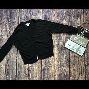🌀Motherhood Maternity | Black Cropped Cardigan